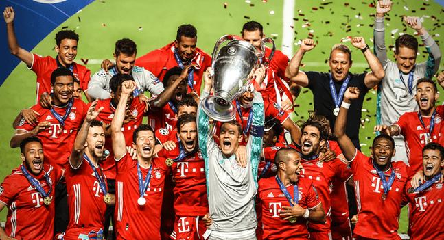 欧冠决赛拜仁第6次捧杯