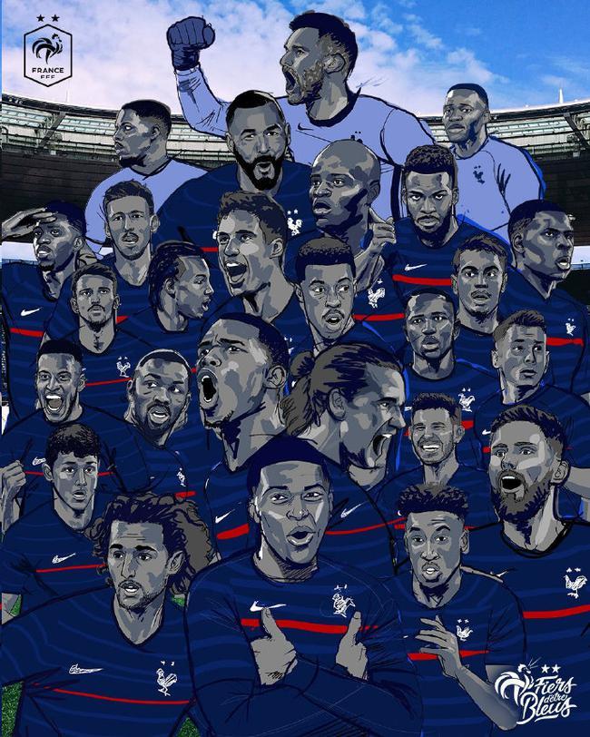 欧洲杯法国队名单