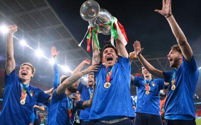 意大利通过点球战赢得欧洲杯2021冠军