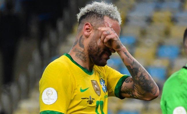 Neymar burst into tears