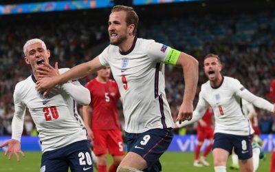 英格兰加时赛绝杀丹麦,首闯欧洲杯决赛