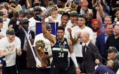 密尔沃基雄鹿连赢4场夺下NBA总冠军