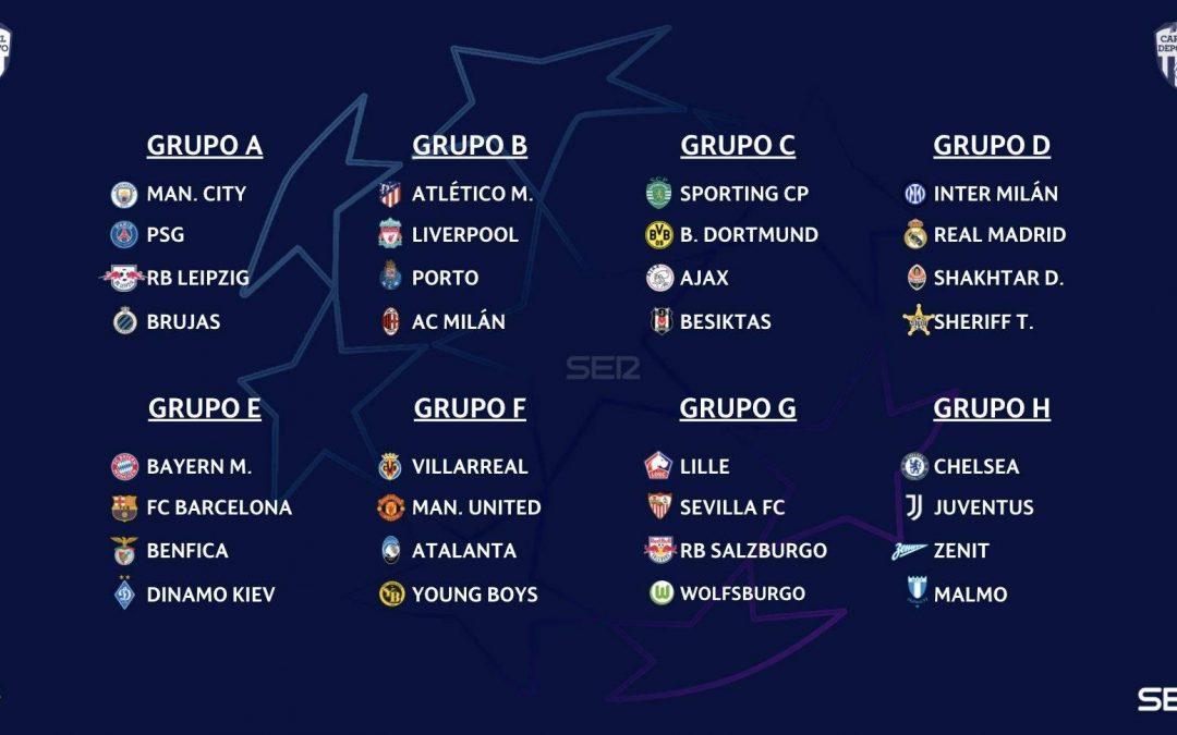 新赛季欧冠小组赛抽签结果