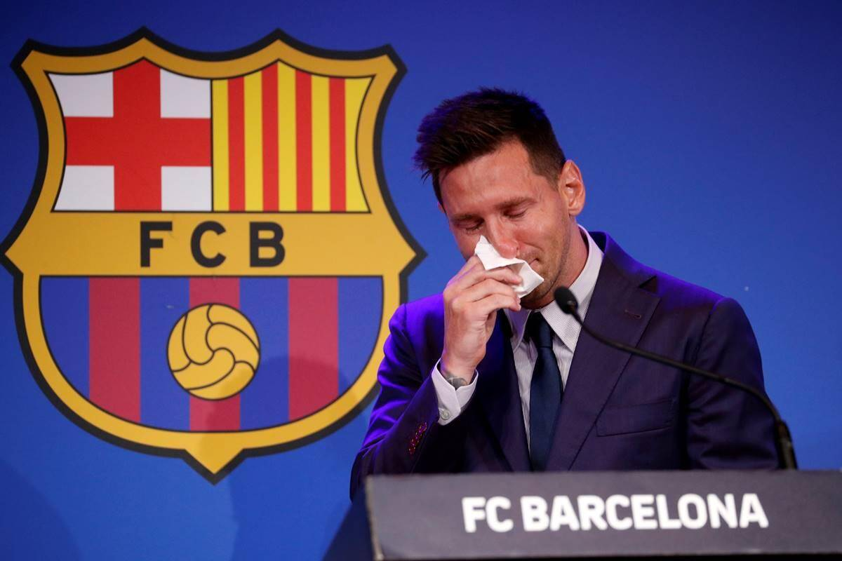 messi cried