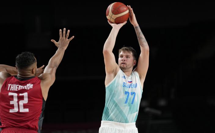 东奥男篮斯洛文尼亚击败德国晋级4强